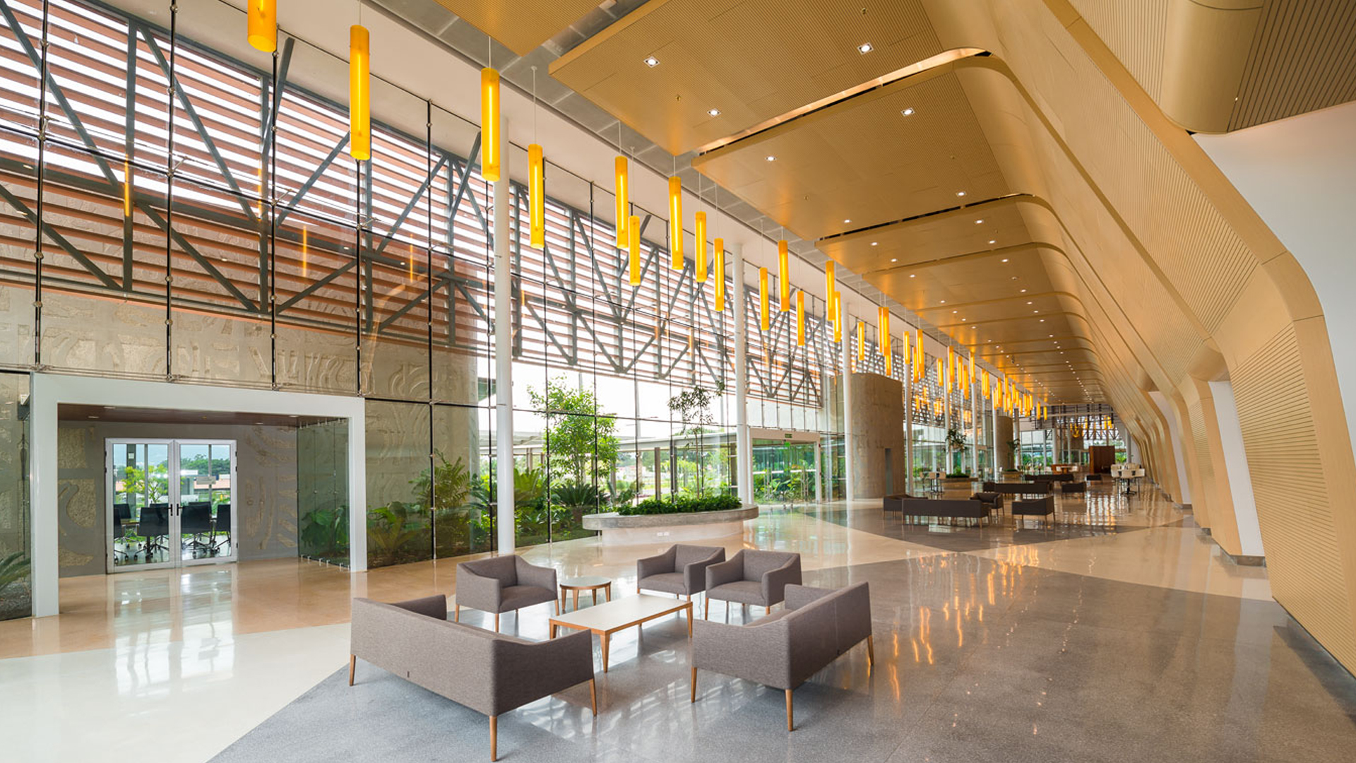Modern finishings at the Centro de Convenciones, Costa Rica